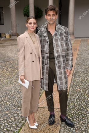 Stock Photo of Olivia Palermo and Johannes Huebl in the front row