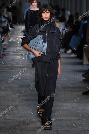 Stock Photo of Mica Arganaraz on the catwalk
