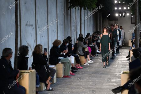 Editorial picture of Boss show, Runway, Spring Summer 2021, Milan Fashion Week, Italy - 25 Sep 2020