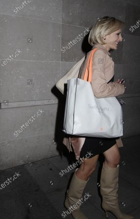 Emily Maitlis going home after presenting The BBC News.
