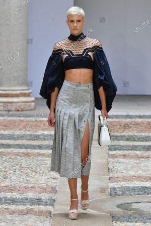 Editorial photo of Mario Dice show, Runway, Spring Summer 2021, Milan Fashion Week, Italy - 24 Sep 2020
