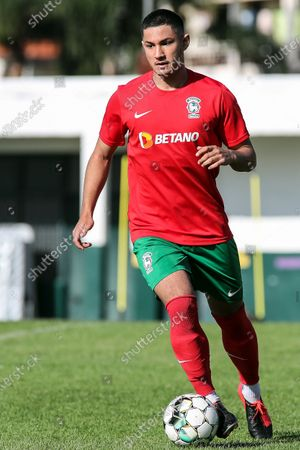 Maritimo's new player Faiq Jefri Bolkiah attends his team's training session at the Santo Antonio Sports Complex in Funchal, Madeira Island, Portugal, 25 September 2020. Faiq Jefri Bolkiah is a prince, member of the Royal Bruneian family and nephew of Brunei's sultan, Hassanal Bolkiah. Faiq has spent his entire soccer career in England, starting at AFC Newbury, followed by clubs such as Southampton, Arsenal, Chelsea and Leicester City.