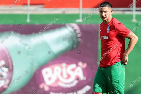 Stock Picture of Maritimo's new player Faiq Jefri Bolkiah attends his team's training session at the Santo Antonio Sports Complex in Funchal, Madeira Island, Portugal, 25 September 2020. Faiq Jefri Bolkiah is a prince, member of the Royal Bruneian family and nephew of Brunei's sultan, Hassanal Bolkiah. Faiq has spent his entire soccer career in England, starting at AFC Newbury, followed by clubs such as Southampton, Arsenal, Chelsea and Leicester City.