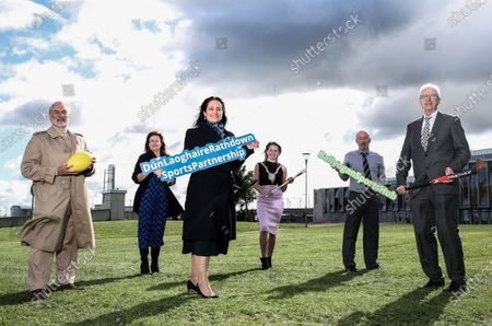 Stock Photo of (L-R) Kieran Mulvey, Chairman of Sport Ireland, Kevina Malone, Community Sports Development Officer, DLR Local Sports Partnership, Minister Catherine Martin, Cllr. Una Power, Cathaoirleach of DLR CC and DLR LSP Board Member, CEO of dlr Leisure is Niall Cull and John Treacy, Chief Executive, Sport Ireland pictured at the announcement by Sport Ireland of €7.3 million in funding for sport and physical activity measures at Samuel Beckett Civic Centre, Ballyogan. The investment through the Dormant Accounts Fund aims to engage with communities across the country, focusing on people with disabilities, people who are educationally disadvantaged and from disadvantaged communities.