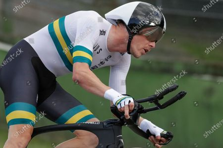 Stock Picture of Australia's Rohan Dennis competes during the men's Individual Time Trial event, at the road cycling World Championships, in Imola, Italy