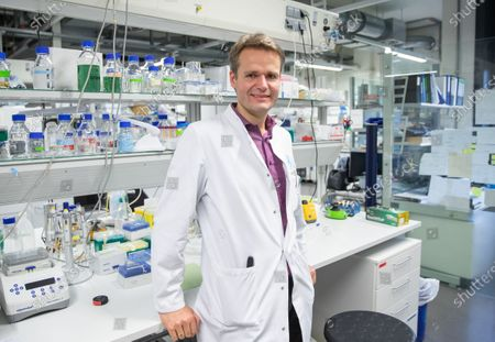 Prof. Dr. Harald Pruess from the Department of Neurology with Experimental Neurology poses during an interview in his laboratory at the university hospital Charite in Berlin, Germany, 25 September 2020. Researchers of the Charite hospital, together with the German Center for Neurodegenerative Diseases (DZNE) have identified highly effective antibodies against the coronavirus SARS-CoV-2 and are now proceeding to develop a passive vaccination.