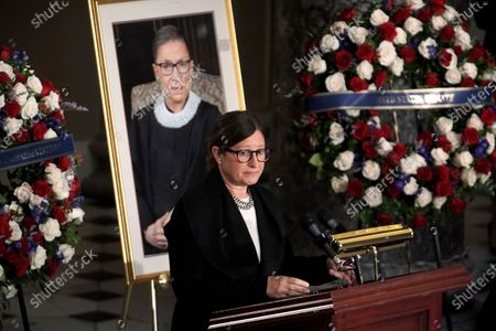 Editorial image of Associate Justice Ruth Bader Ginsburg  Lies in State in the US Capitol, Washington, District of Columbia, USA - 25 Sep 2020