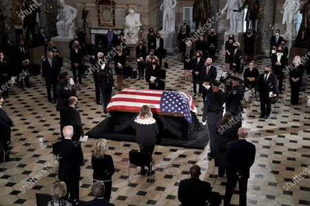 Editorial photo of Associate Justice Ruth Bader Ginsburg  Lies in State in the US Capitol, Washington, District of Columbia, USA - 25 Sep 2020