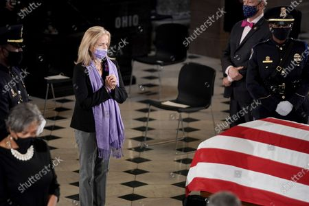 Stock Photo of Rep. Madeleine Dean (D-Pa.) pays her respects as the late Justice Ruth Bader Ginsburg lies in state at National Statuary Hall in the U.S. Capitol in Washington, DC, USA, 25 September 2020. United States Supreme Court Justice Ruth Bader Ginsburg died on 18 September 2020 at the age of 87. Justice Ginsburg, also known as RBG, took office on 10 August 1993 after an appointment by then US President Bill Clinton. She was the oldest of the nine serving supreme court judges at the time of her death.