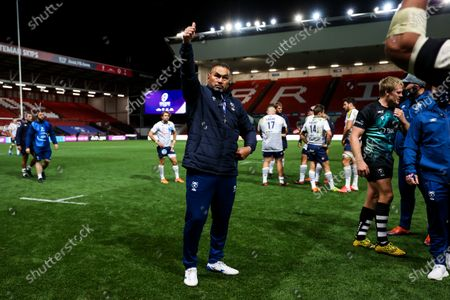 Bristol Bears Director of Rugby Pat Lam celebrates as Bristol Bears win 37-20 after extra time to progress to a European Final