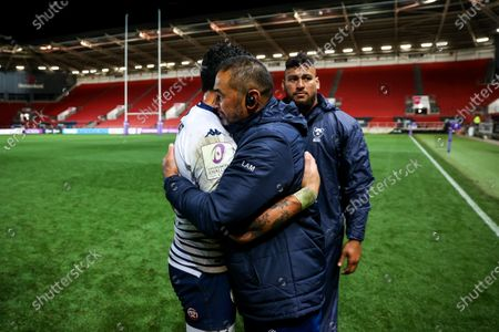 Bristol Bears Director of Rugby Pat Lam and Ben Lam of Bordeaux-Begles as Bristol Bears win 37-20 after extra time to progress to a European Final
