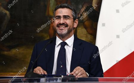 Riccardo Fraccaro, Secretary of the Council of Ministers of Italy, during the sign of a space cooperation agreement with the United States at Palazzo Chigi, Rome, Italy, 25 February 2020.
