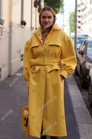 Editorial picture of Street Style, Spring Summer 2021, Milan Fashion Week, Italy - 23 Sep 2020