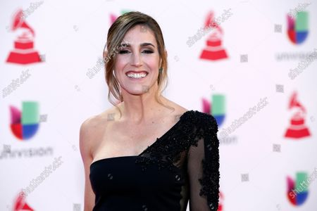 """Soledad Pastorutti arrives at the Latin Grammy Awards, at the MGM Grand Garden Arena in Las Vegas. The Argentine singer celebrates 25 years of her music career with the album titled """"Parte de mí,"""" released"""