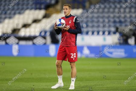Michael Dawson (20) of Nottingham Forest during the warm up