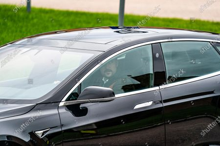 Crown Prince Haakon drives fom Rikshospitalet after visiting King Harald who has been admitted and is being examined