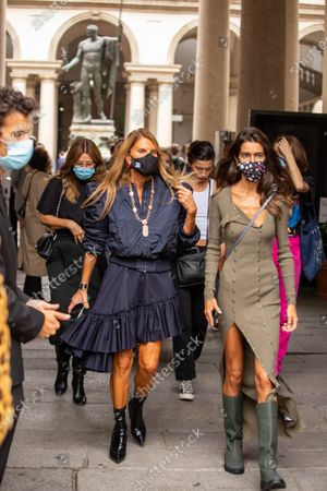 italy, milan, Anna Dello Russo, director of Vogue Japan guest of the Max Mara fashion show during milan fashion week