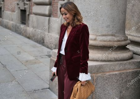 Cristina Parodi street style outfit after Max Mara Fashion Show during Milan Fashion Week Fall/Winter 2020/2021 collections.