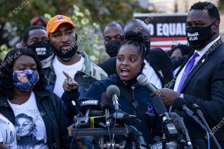 Editorial image of Attorneys addresses the press at the memorial for Breonna Taylor's death in Louisville, US - 25 Sept 2020