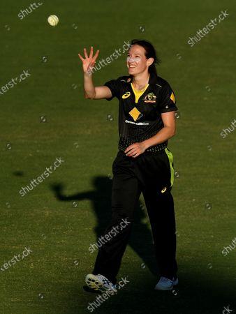 Stock Picture of Australian bowler Megan Schutt  during the T20 International match between Australia and New Zealand at Allan Border Field in Brisbane, Australia, 26 September 2020.