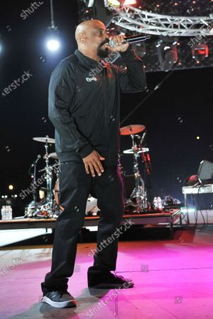 Stock Image of Sen Dog of Cypress Hill, performs during the Concerts In Your Car series at the Ventura County Fairgrounds, in Ventura, Calif