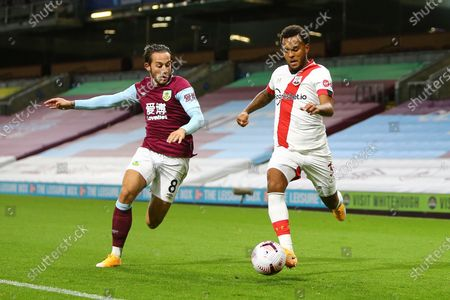 Josh Brownhill of Burnley and Southampton's Ryan Bertrand