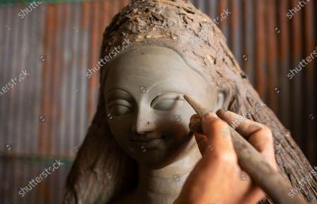 Editorial picture of Durga Puja festival preparations in Bangladesh, Dhaka - 26 Sep 2020