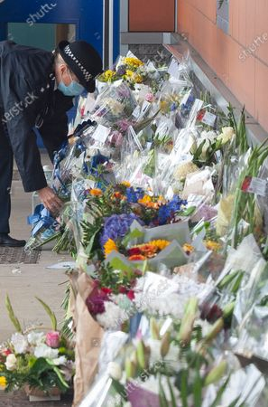 Editorial picture of Croydon custody flowers, Croydon, South London, UK - 26 Sep 2020