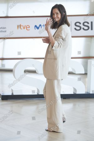 Stock Photo of Katherine Waterston attended 'The world to come' Photocall during 68th San Sebastian International Film Festival at Kursaal Palace on September 26, 2020 in Donostia / San Sebastian, Spain