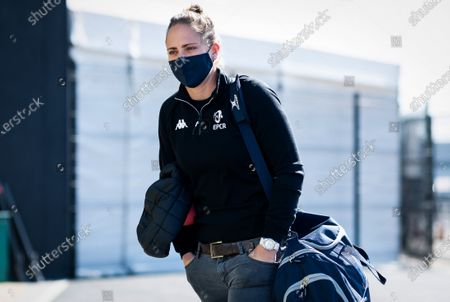 Exeter Chiefs vs Toulouse. Referee Sara Cox arrives at Sandy Park