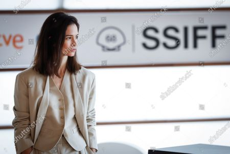 US cast actress Katherine Waterson poses during the presentation of the film 'The World to Come' at the 68th annual San Sebastian International Film Festival (SSIFF), in San Sebastian, Spain, 26 September 2020. The film festival runs from 18 to 26 September 2020 under safety measures like obligatory face mask use and red carpets without public due to the Covid-19 coronavirus pandemic. Organizers have also reduced the number of film screenings as well as the seating capacity in cinemas.