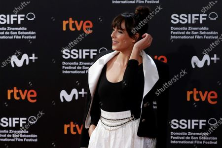 Belen Cuesta poses for photographers at her arrival to the closing ceremony of the 68th annual San Sebastian International Film Festival (SSIFF), in San Sebastian, Spain, 26 September 2020. The film festival runs from 18 to 26 September 2020 under safety measures like obligatory face mask use and red carpets without public due to the Covid-19 coronavirus pandemic. Organizers have also reduced the number of film screenings as well as the seating capacity in cinemas.