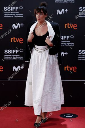 Stock Image of Belen Cuesta poses for photographers at her arrival to the closing ceremony of the 68th annual San Sebastian International Film Festival (SSIFF), in San Sebastian, Spain, 26 September 2020. The film festival runs from 18 to 26 September 2020 under safety measures like obligatory face mask use and red carpets without public due to the Covid-19 coronavirus pandemic. Organizers have also reduced the number of film screenings as well as the seating capacity in cinemas.
