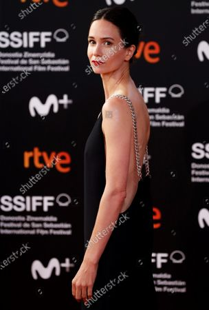 Stock Image of Katherine Waterson poses for photographers at her arrival to the closing ceremony of the 68th annual San Sebastian International Film Festival (SSIFF), in San Sebastian, Spain, 26 September 2020. The film festival runs from 18 to 26 September 2020 under safety measures like obligatory face mask use and red carpets without public due to the Covid-19 coronavirus pandemic. Organizers have also reduced the number of film screenings as well as the seating capacity in cinemas.