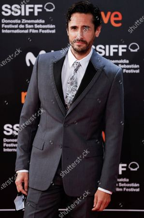 Argentinian actor Juan Diego Botto poses for photographers at his arrival to the closing ceremony of the 68th annual San Sebastian International Film Festival (SSIFF), in San Sebastian International Film Festival (SSIFF), in San Sebastian, Spain, 26 September 2020. The film festival runs from 18 to 26 September 2020 under safety measures like obligatory face mask use and red carpets without public due to the Covid-19 coronavirus pandemic. Organizers have also reduced the number of film screenings as well as the seating capacity in cinemas.