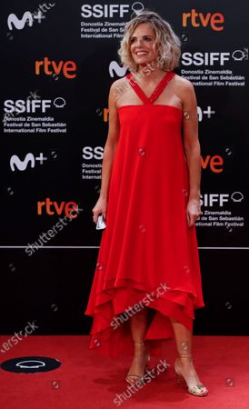 Edurne Ormazabal poses for photographers at her arrival to the closing ceremony of the 68th annual San Sebastian International Film Festival (SSIFF), in San Sebastian, Spain, 26 September 2020. The film festival runs from 18 to 26 September 2020 under safety measures like obligatory face mask use and red carpets without public due to the Covid-19 coronavirus pandemic. Organizers have also reduced the number of film screenings as well as the seating capacity in cinemas.