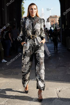 Editorial picture of Alberta Ferretti show, Arrivals,  Spring Summer 2021, Milan Fashion Week, Milan, Italy - 23 Sep 2020