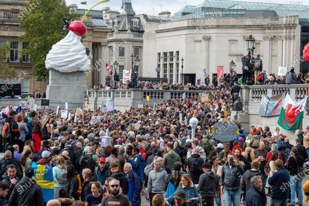 Coronavirus sceptics have gathered in central London for a large demonstration.
