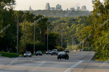 Cars travel on a stretch of Blue Parkway, in Kansas City, Mo. The stretch of road, along with parts of two other streets, would be renamed to honor Rev. Martin Luther King Jr. under a city proposal coming in the wake of failed effort to honor King last year