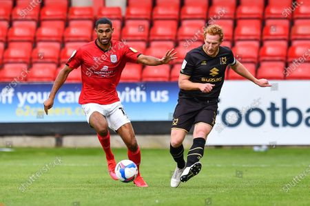 Dean Lewington (3) of MK Dons in action