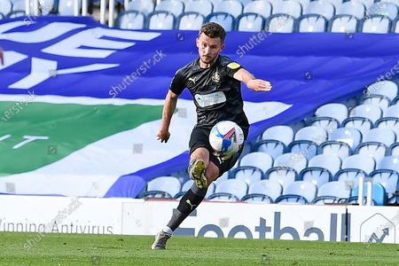 Tom James of Wigan Athletic scores the second goal from a free kick during Portsmouth vs Wigan Athletic, Sky Bet EFL League 1 Football at Fratton Park on 26th September 2020