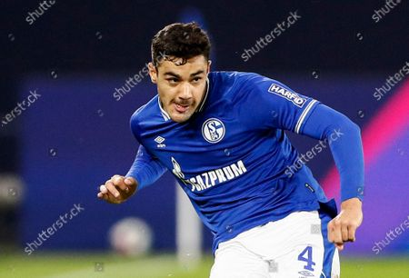 Stock Picture of Schalke's Ozan Kabak is pictured during the German Bundesliga soccer match between FC Schalke 04 and Werder Bremen in Gelsenkirchen, Germany, . Kabak is suspected to spit on Bremen's Ludwig Augustinsson during the match