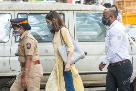 Bollywood actress Shraddha Kapoor arrives at NCB office for enquiry at Exchange Building, on September 26, 2020 in Mumbai, India. Three Bollywood actors were questioned by the Narcotics Control Bureau (NCB) on Saturday as part of its investigation into a drug case related to the death of Sushant Singh Rajput in June this year, officials said.