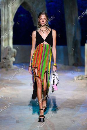Editorial image of Womenswear, summer 2021, Milano, Versace, Italy - 25 Sep 2020