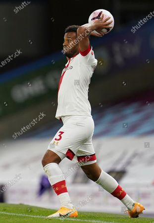 Ryan Bertrand of Southampton takes a throw-in during the English Premier League match between Burnley and Southampton in Burnley, Britain, 26 September 2020.