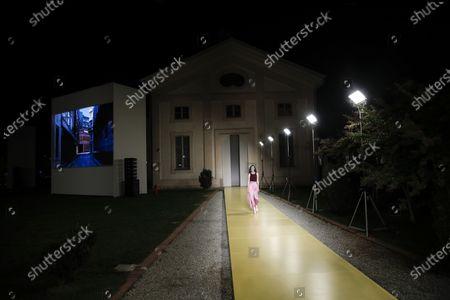Editorial photo of Fashion S/S 2021 Ferragamo, Milan, Italy - 26 Sep 2020