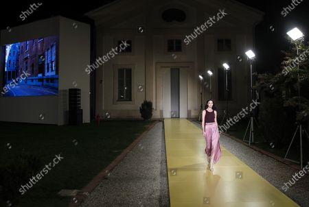 Editorial image of Fashion S/S 2021 Ferragamo, Milan, Italy - 26 Sep 2020