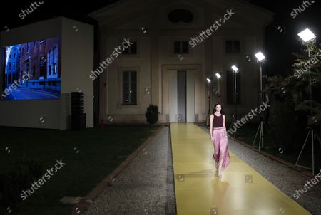 Editorial picture of Fashion S/S 2021 Ferragamo, Milan, Italy - 26 Sep 2020