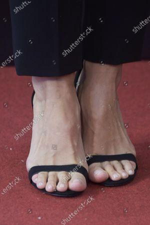 Tamara Falco, shoe detail