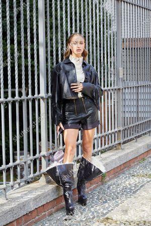 Editorial photo of Philosophy di Lorenzo Serafini show, Arrivals, Spring Summer 2021, Milan Fashion Week, Italy - 26 Sep 2020